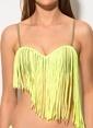 Dagi Dolgulu Straplez Bikini Takım Yeşil